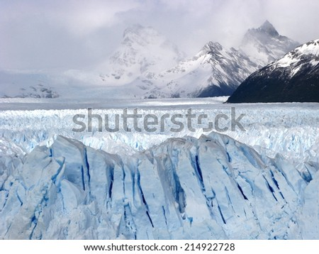Perito Moreno Glacier in Los Glaciares National Park in the Santa Cruz province, El Calafate, Patagonia, Argentina, South America - stock photo