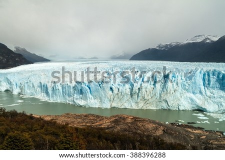 Perito Moreno glacier in National Park Los Glaciares, Argentina - stock photo