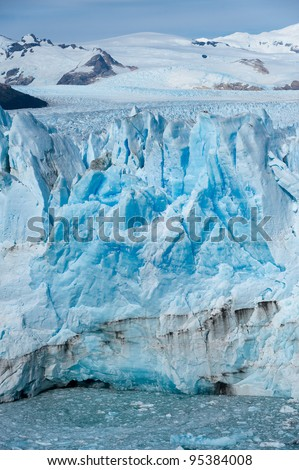 Perito Moreno glacier in Patagonia - stock photo