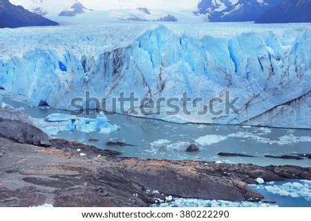 Perito Moreno glacier. Los Glaciares National park. Argentina. - stock photo