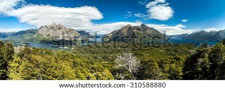 Perito Moreno Oeste and Nahuel Huapi lake, Argentina - stock photo
