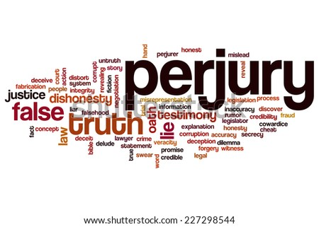 Perjury word cloud concept - stock photo