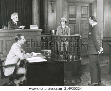 Permission to approach the witness - stock photo