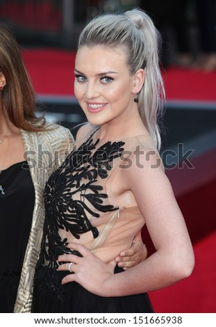 Perrie Edwards from Little Mix at the UK Premiere of 'One Direction, This Is Us' at the Empire Leicester Square, London. 20/08/2013 - stock photo