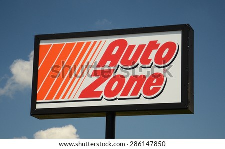 PERRYSBURG, OH - JUNE 2:  AutoZone, whose Perryburg, OH location sign is shown on June 2, 2015, has over 5,200 stores. - stock photo