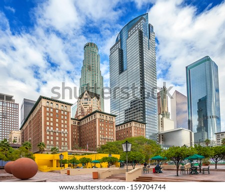 Pershing Square in Los Angeles, USA - stock photo