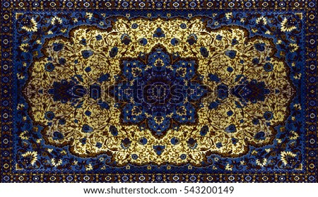 Persian Carpet Texture Abstract Ornament Round Stock Photo