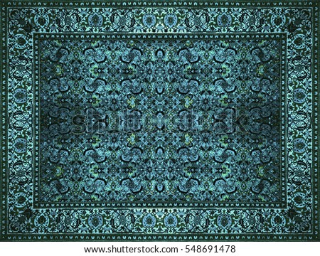 Persian Carpet Texture, Abstract Ornament. Round Mandala Pattern, Middle  Eastern Traditional Carpet Fabric