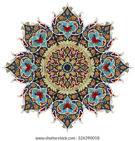 Persian ornament lace - stock photo