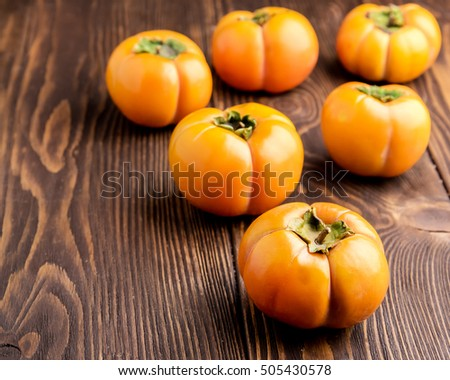 Persimmon and candy