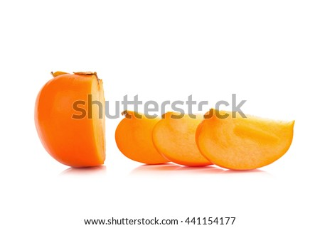 Persimmon fruit isolated on white background.