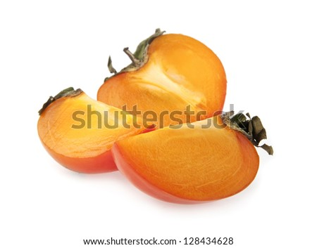 persimmon isolated on a white background