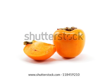 Persimmon isolated on white background.
