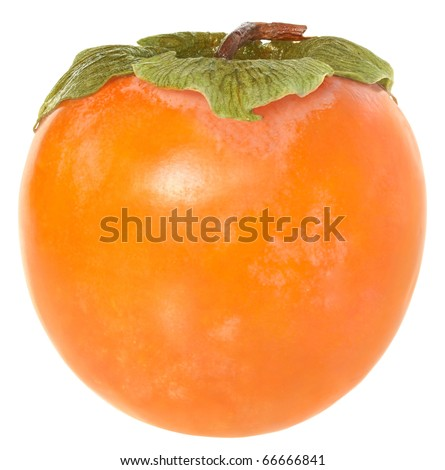 Persimmon on a white background. - stock photo