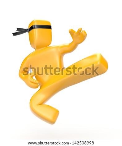 Person doing a kick - stock photo