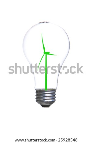 Person holding a modern green light bulb in the studio