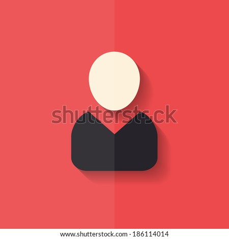 Person icon. Flat design. - stock photo