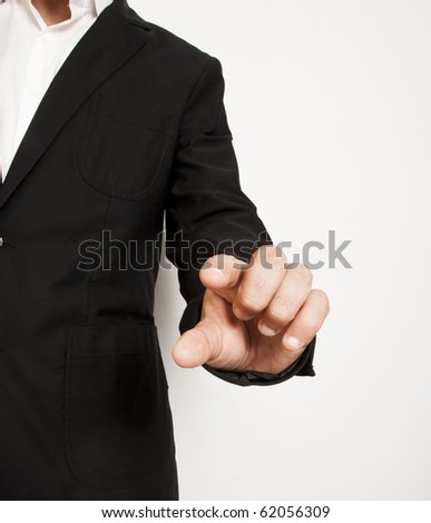 person makes a gesture of business with a stylish dress