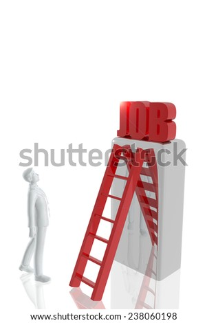Person searching for a job - stock photo