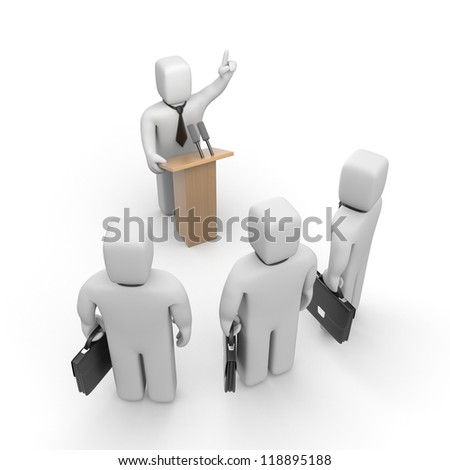 Person speaking - stock photo