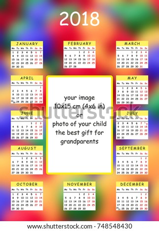 Personal Calendar Template  A X Stock Illustration