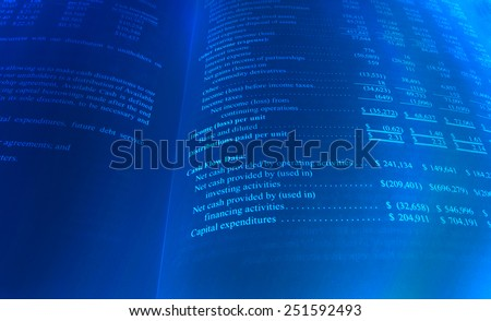 Personal Cash Flow Sheet in Blue