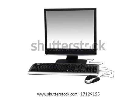 Personal computer isolated on the white background - stock photo