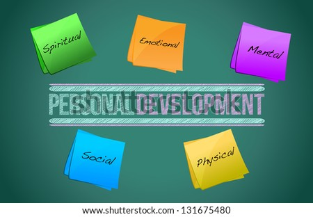 Personal development management business strategy concept diagram illustration - stock photo