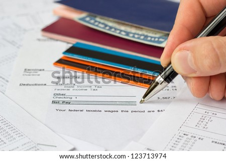 Personal finances - stock photo