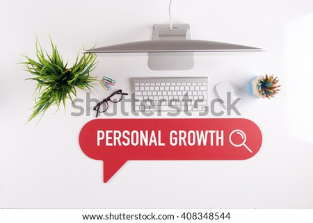 PERSONAL GROWTH Search Find Web Online Technology Internet Website Concept - stock photo