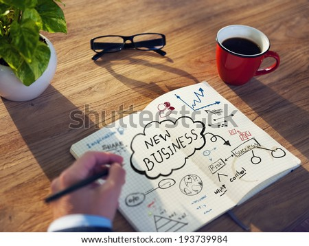 Personal Perspective of a Person Planning for Startup Business - stock photo