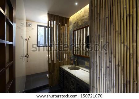 Personal studio interiors.Toilet - stock photo