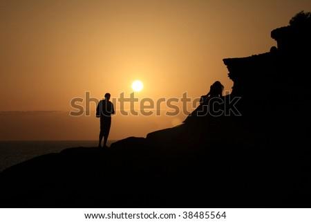 Personal sunset - stock photo