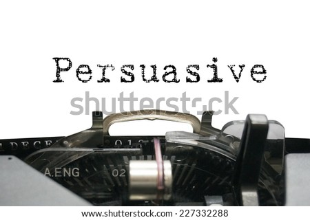 Personality characteristic - Persuasive - stock photo