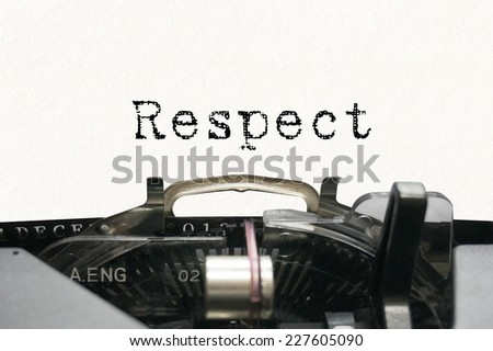 Personality characteristic - Respect - stock photo