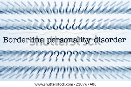 Personality disorder - stock photo