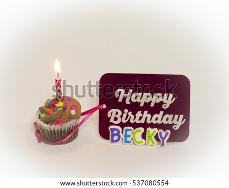 Personalized Happy Birthday Becky