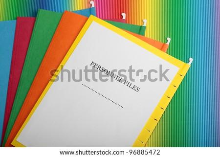 Personnel files - stock photo