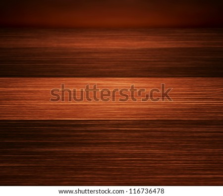 Perspectiv Wooden Texture Stage Background - stock photo