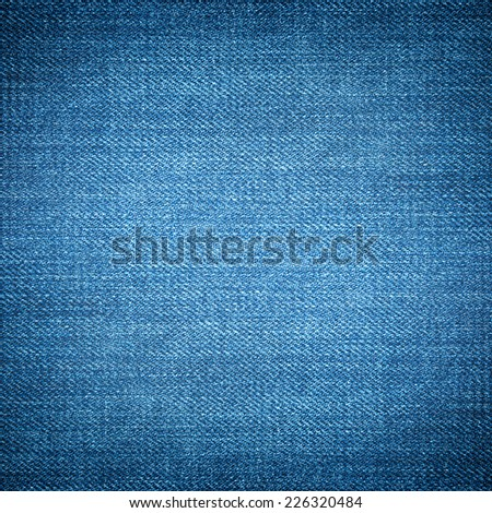 Perspective and closeup view to abstract space of empty light blue natural clean denim texture for the traditional business background in cold bright colors with diagonal shift tilt lines and stitches - stock photo