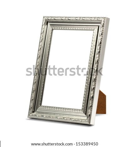 perspective frame on the white background - stock photo