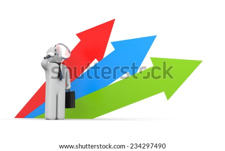 Perspective in business - stock photo