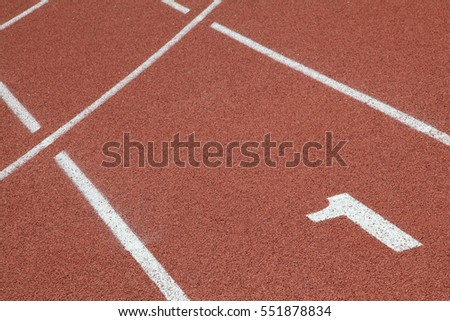 perspective of number one in race track