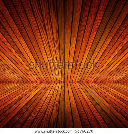 perspective of wood background - stock photo