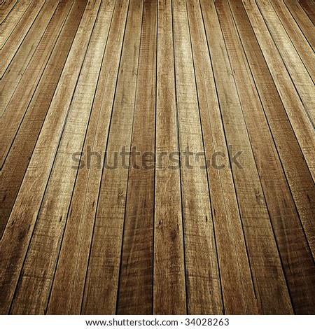 perspective of wood plank - stock photo