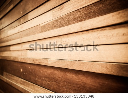 perspective of wood plank background - stock photo