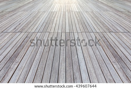 Perspective striped wood flooring