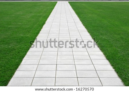 Perspective Walkway - stock photo