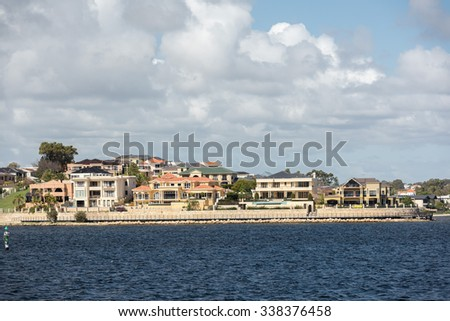 perth bay fremantle by the sea houses landscape panorama