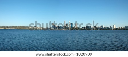 Perth City as seen from the southern side